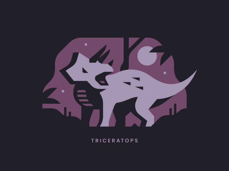 Triceratops forest tree horn reptile park jurassic triceratops dinosaur