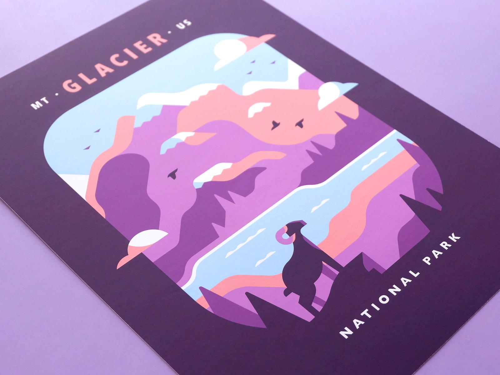 Glacier product photo dribbble