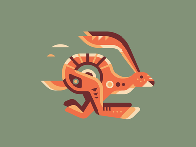 Jackrabbit jump native american run jackrabbit rabbit pattern geometry geometric nature totem
