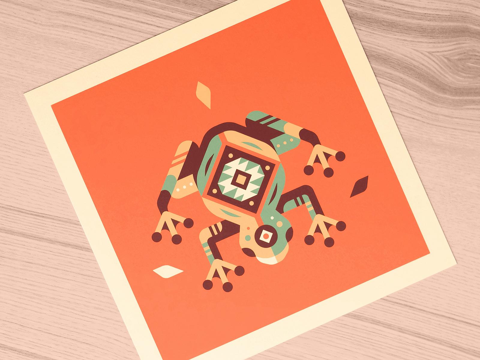 Canopy frog print  2x