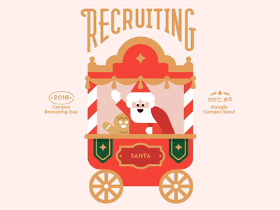 Google Campus Seoul - Campus Recruiting Day winter invite vector recruiting korea illustration holiday graphic google flat christmas character