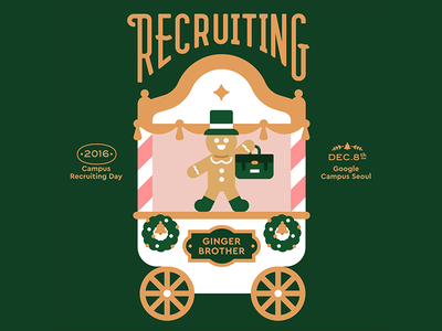 Google Campus Seoul - Campus Recruiting Day winter vector recruiting korea invite illustration holiday graphic google flat christmas character