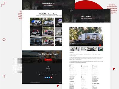 Caravan Detail - Dealer Caravan Website cars news caravan range caravan simple ui clean design website cataloge company profile company listing cars car explorer dealer cars dealer agency adventure