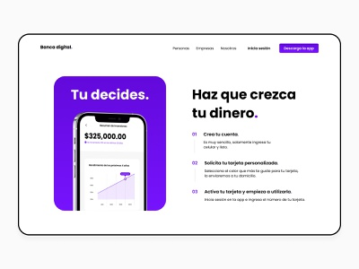 Digital Bank web design website mexico hero landing finance finance app money app card credit card banking app digital bank bank app bank