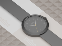 Braun Ceramic Watch
