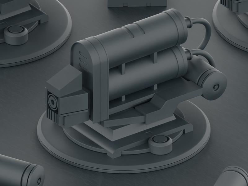 Plasma Gun laser gun rocket sci fi bullets machine animation mexico blender blender 3d 3d