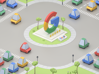 Google Isometric City
