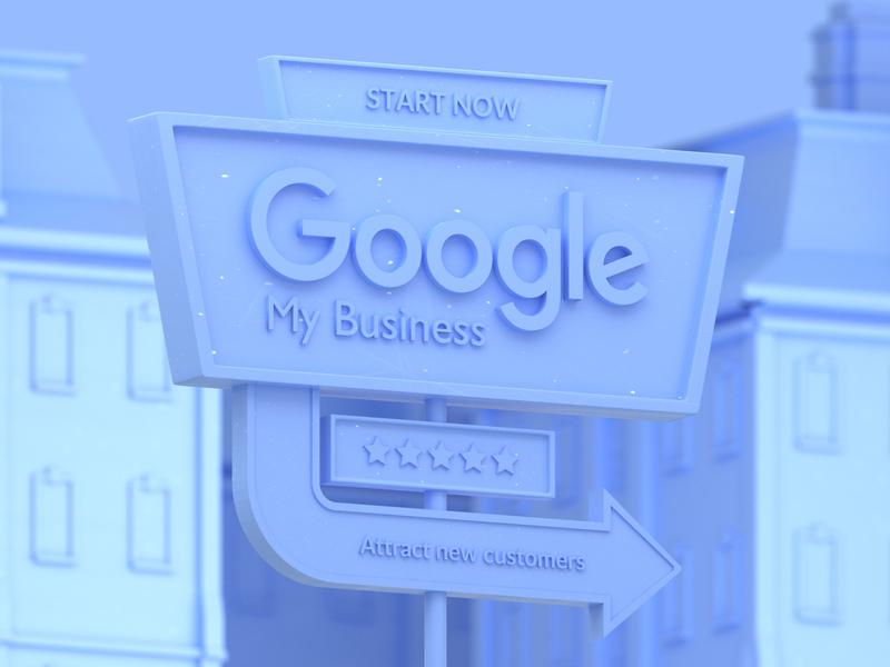 Google My Business google maps search engine seo google my business google isometric illustration animation 3d blender 3d mexico blender