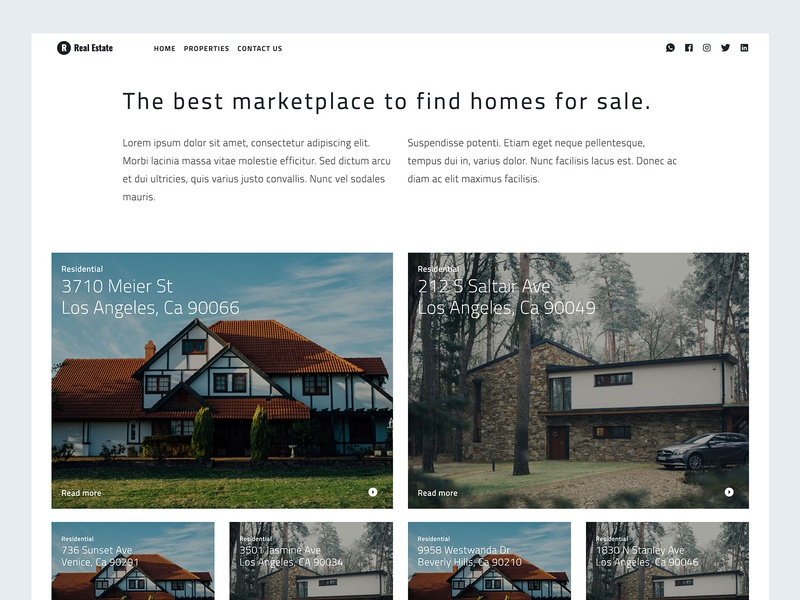Free Real Estate Template theme template real estate mexico free theme free template free html free bootstrap freebies freebie free coding