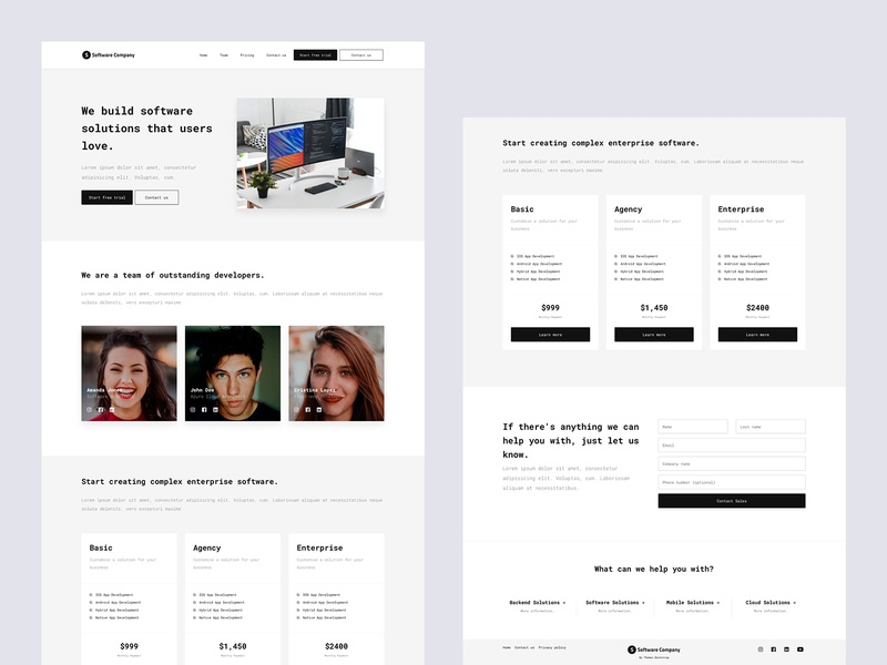 Software Company Template template free theme theme coding software css landing page ux ui bootstrap free bootstrap free html freebie mexico