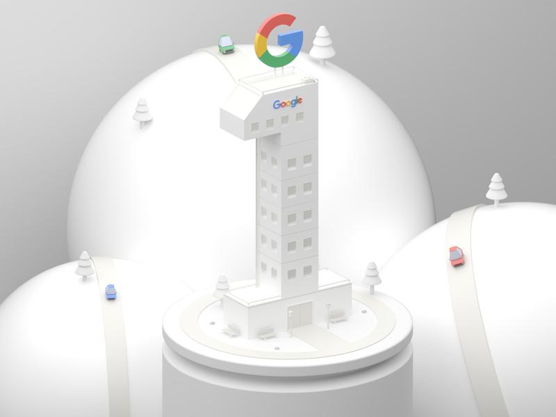 Google seo light white design lowpoly google isometric illustration 3d blender 3d blender mexico