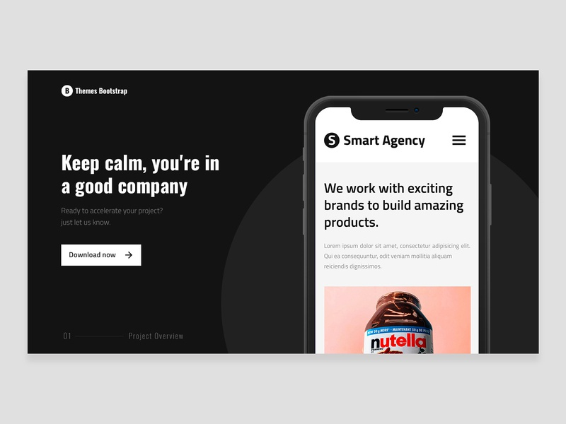 Smart Agency Free Template ux design bootstrap4 bootstrap free theme freebie template theme ux ui design illustration mexico