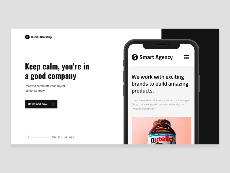 Smart Agency Free Template ui design ux design ux ui theme template mexico illustration free theme freebie design bootstrap4 bootstrap