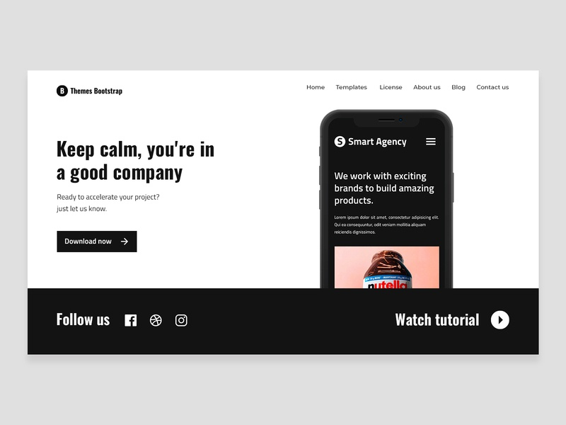 Smart Agency Free Template uxdesign ui design ux ui theme template mexico illustration free theme freebie design bootstrap 4 bootstrap