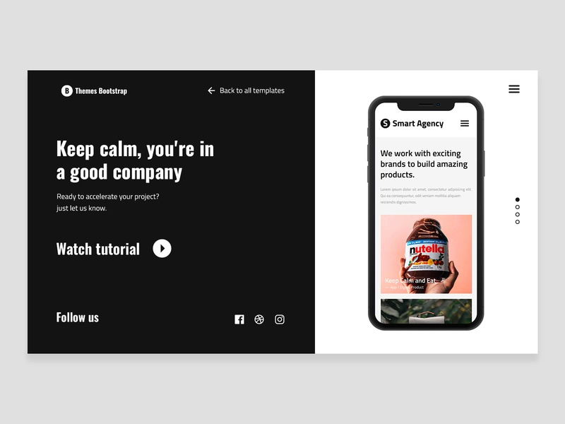 Smart Agency Free Template ux design ux ui design ui theme template mexico illustration free theme freebie design bootstrap 4 bootstrap