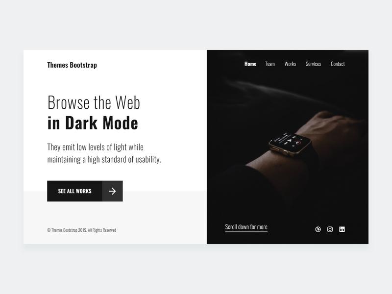Dark Mode ux design ui design ux ui theme simple mexico free theme free template freebie free clean bootstrap 4