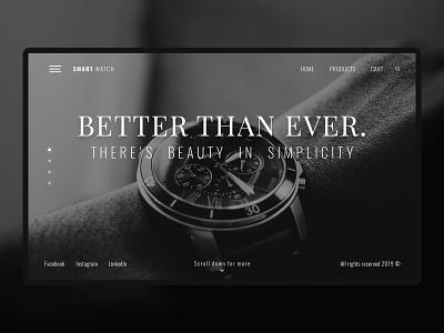 Smart Watch dark ui ux design ux ui design ui theme mexico dark mode dark theme dark clean watches watch smartwatch