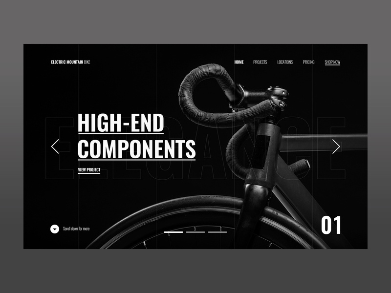 Electric Bike mexico ux design ui design ux ui dark theme innovation electric bike black night dark