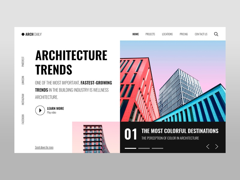 Architecture mexico color colorful dark black ui designer ui ux ux design ui design building architecture architect