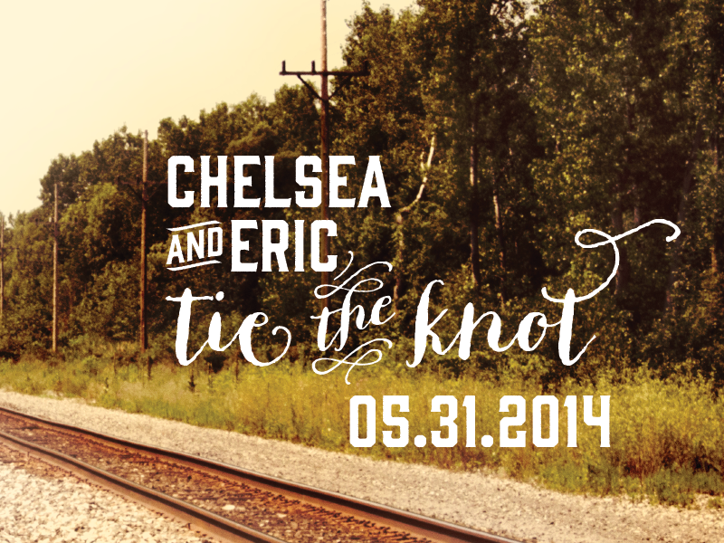 Save the Date v 2.0 typography rustic script country photo save the date wedding