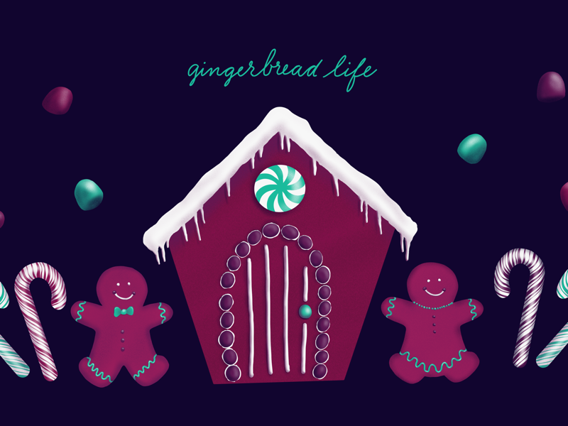 Gingerbread Life procreate candy gingerbread color illustration