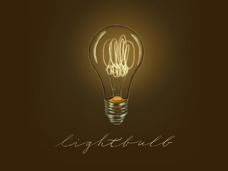 Edison Bulb chalk pencil vintage illustration lightbulb edison bulb