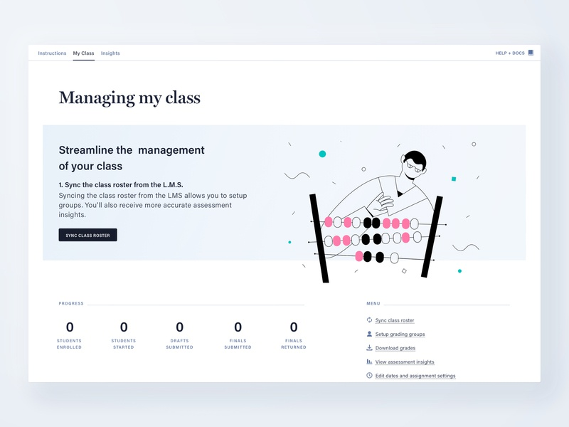 Class management for a digital assessment platform 👩‍🏫 dashboard sketch assessment learning cadmus