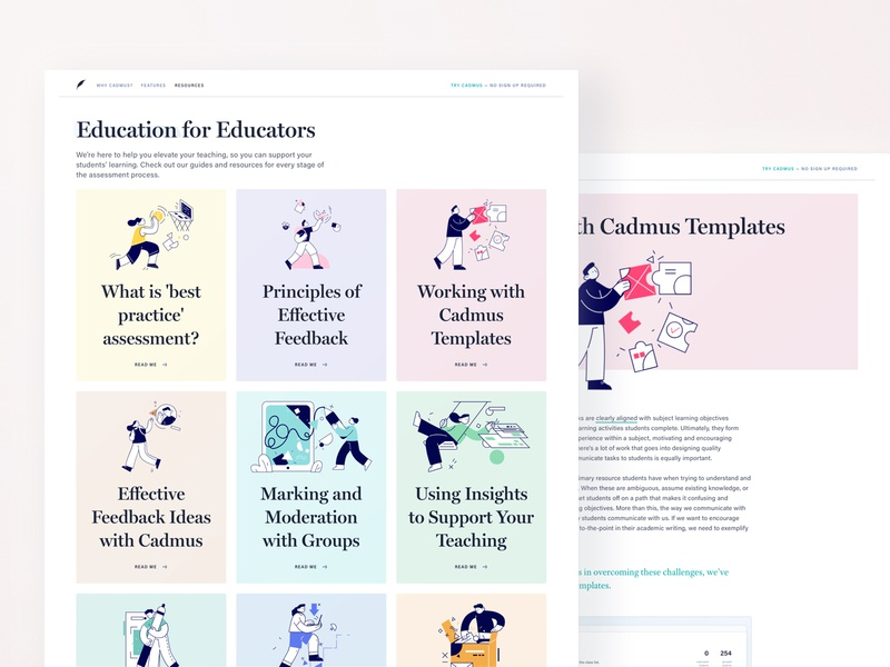 Education for educators education guides cadmus react sketch learning assessment product design