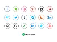 20 Social Media Icons (Freebie)