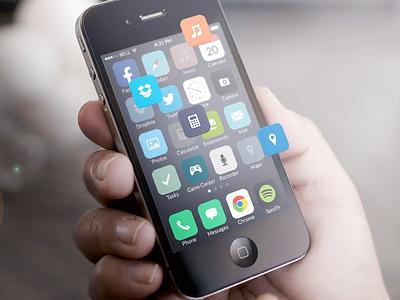 iOS 7 icons redesigned  ios7 ios iphone icons design redesigned redesign