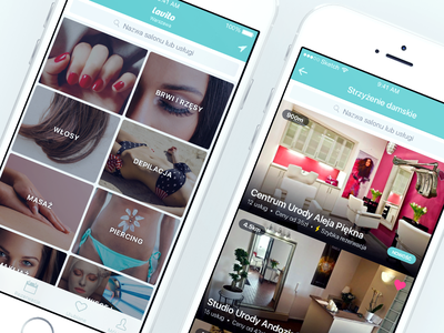Lavito iOS app clear clean turquoise booking grid list salons beauty health apple iphone ios