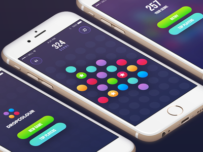DropColour is available in App Store! score top players play iphone colors circle arcade design flat ios game