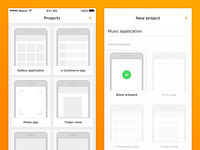 Wireframes app concept