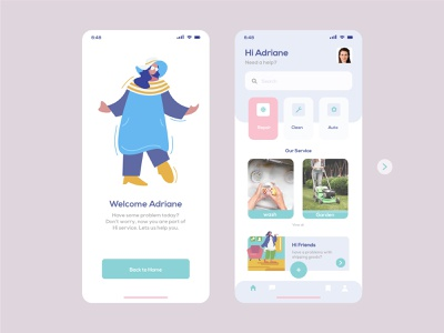 Adriane webdeveloper uidesign uiux appdeveloper appdesign ui illustration beq