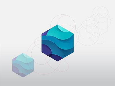 Hexagon beq icon forsale brand logo startup hexagonal