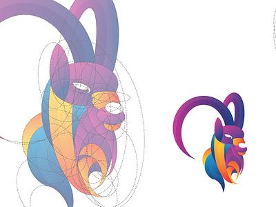 Modern Baphomet beq goat branding startup illustration logo