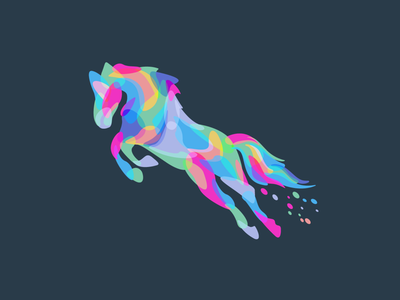 Horse animals beq fullcolor horse logo icon illustration
