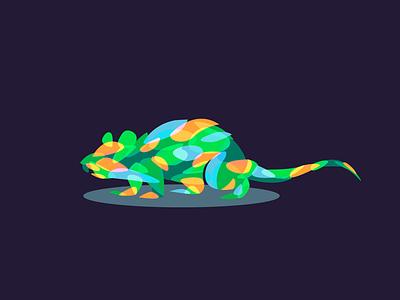 Rat colorfull logo beq illustration icon rat