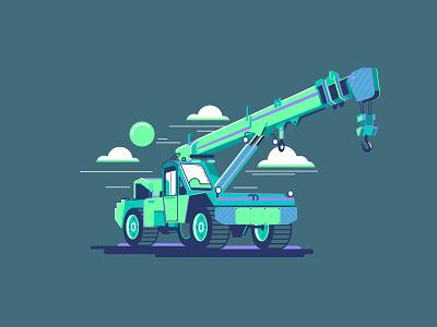 Crane beq ux ui vectorillustration icon illustration 2dillustration crane