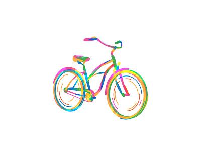 Bicycle beq logo icon flat vector illustration illustration ride bike bicycle