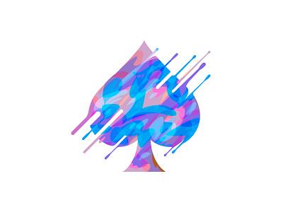 SPADE fullcolor spade logo icon poker beq illustration