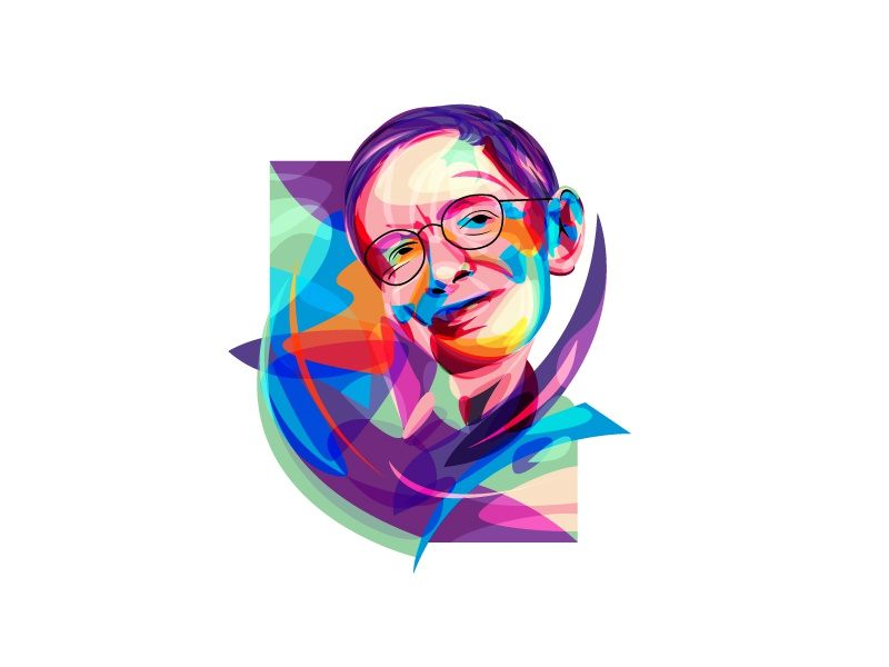 Stephen William Hawking (RIP) rip legend genius astro physics inventor fullcolor figures icon stephenhawking beq illustration