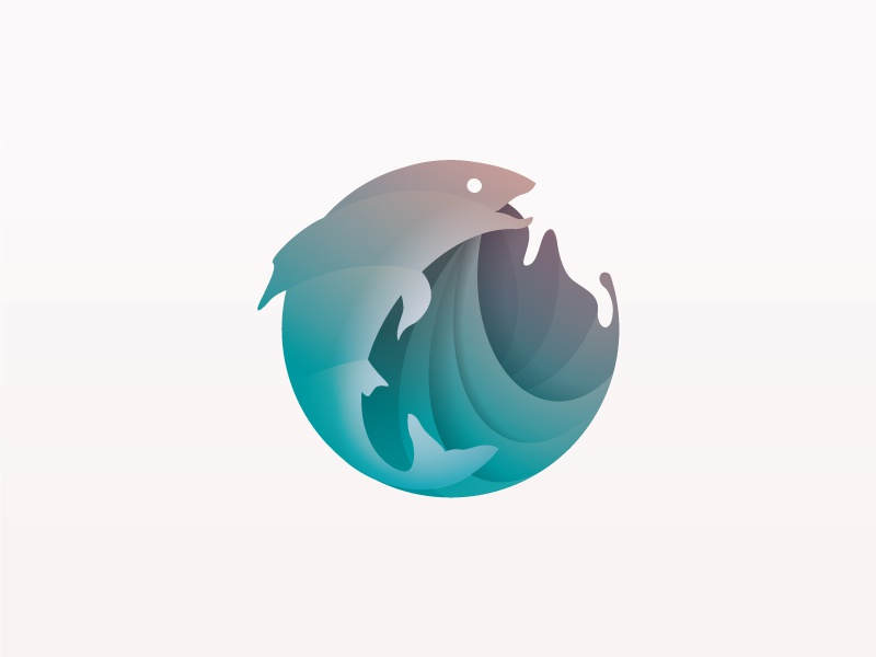 Fish fishing wave for sale beq icon branding forsale logo fish