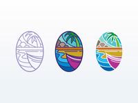 Aloha forsale icon beach illustration flat design flat