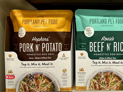 Portland Pet Food II typography branding packaging