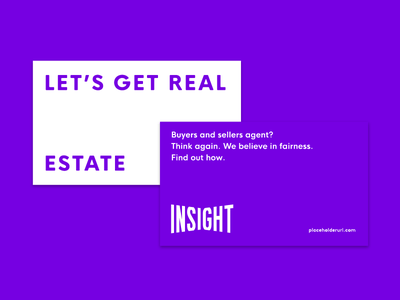 Insight purple! promo real estate realty