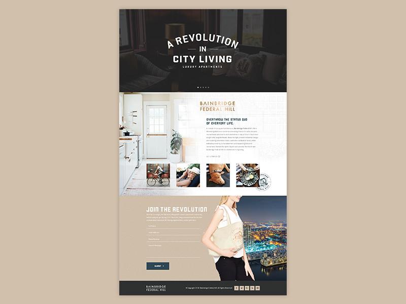 Bainbridge Federal Hill web mockup web design