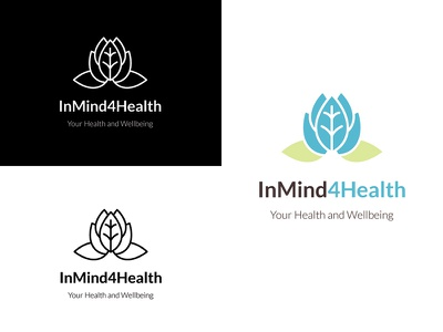 Lotus logo mental wellbeing lotus flower branding logo