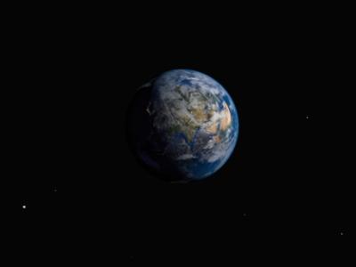 Home model animation space earth blender 3d