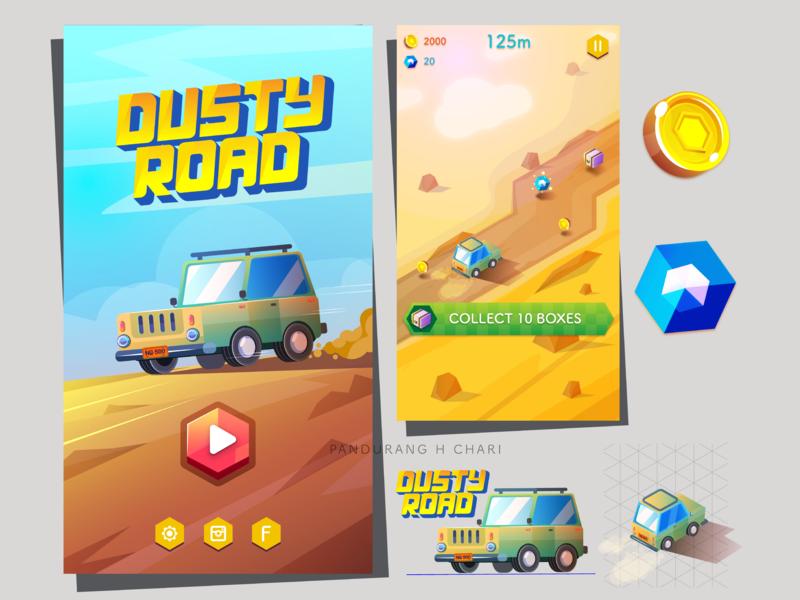 DUSTYROAD Gameart mobilegame game design design ui concept-art game-art